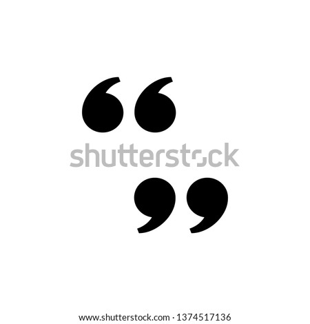 double quote mark icon, left and right, vector design inspiration Royalty-Free Stock Photo #1374517136