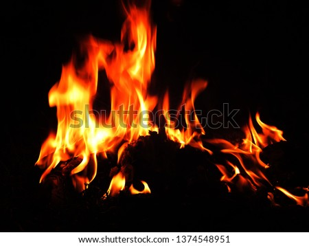 Blurred natural flame flame surface for flame background #1374548951
