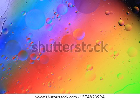 Water droplets on the glass, color background #1374823994