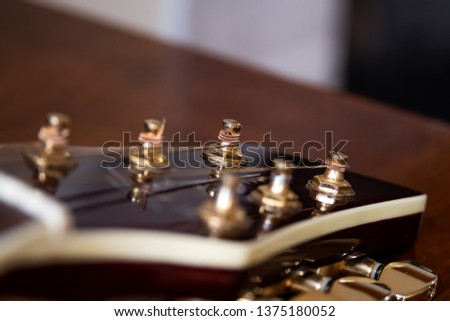 Guitar head and tuning keys #1375180052