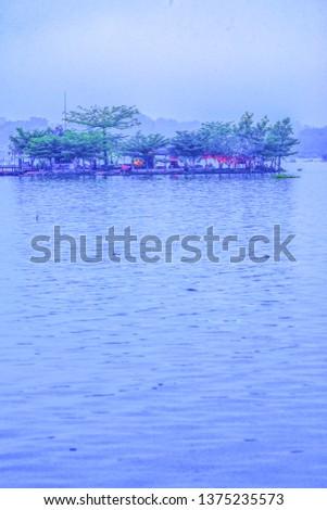 Tilok Aram temple in Kwan Phayao lake, Thailand. #1375235573