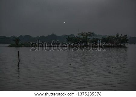 Tilok Aram temple in Kwan Phayao lake, Thailand. #1375235576