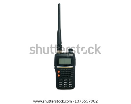 Radio communication device isolated on white background with clipping path #1375557902