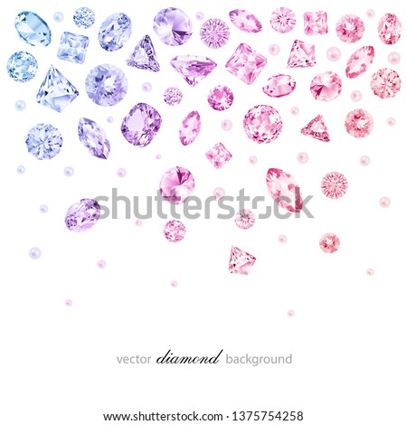 Abstract colorful background with falling diamonds for graphic design