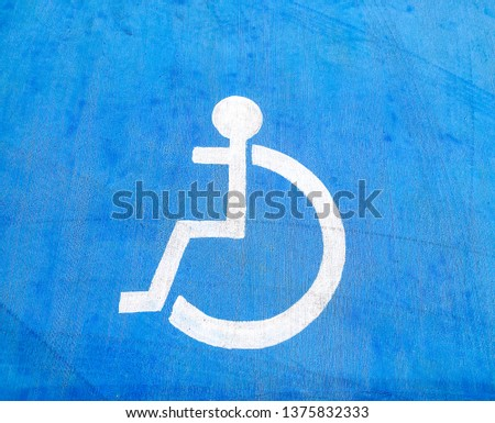 disabled parking space blue background #1375832333
