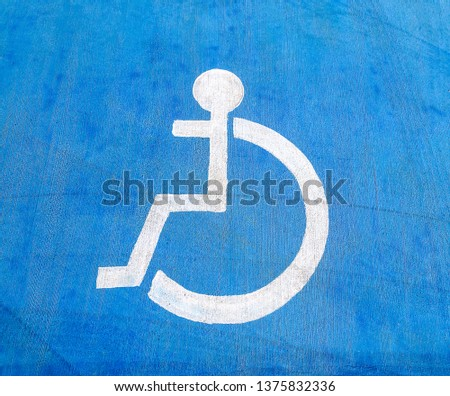 disabled parking space blue background #1375832336