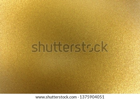 Abstract texture background, sparkle brushed golden metallic sheet #1375904051