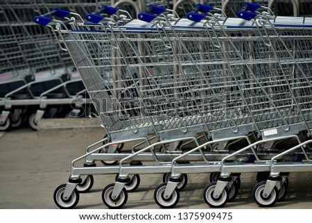 Shopping Cart close-up . #1375909475