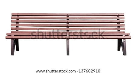 yellow park bench . Isolated over white background . #137602910