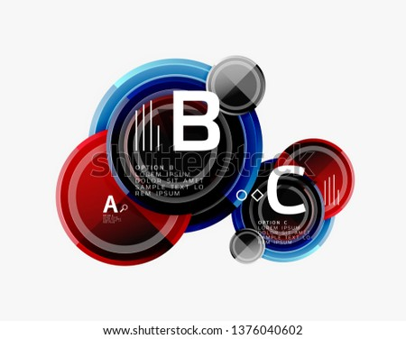 Circle geometric abstract background template for web banner, business presentation, branding, wallpaper. Vector design #1376040602