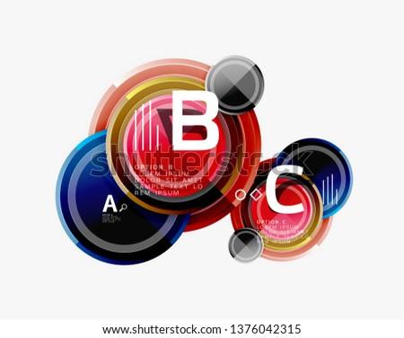 Circular pattern, abstract circles composition. Vector design #1376042315