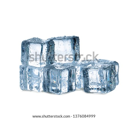 ice cubes on white background #1376084999