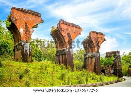 Ruins of Long-teng Bridge, Miaoli County, Taiwan #1376679296