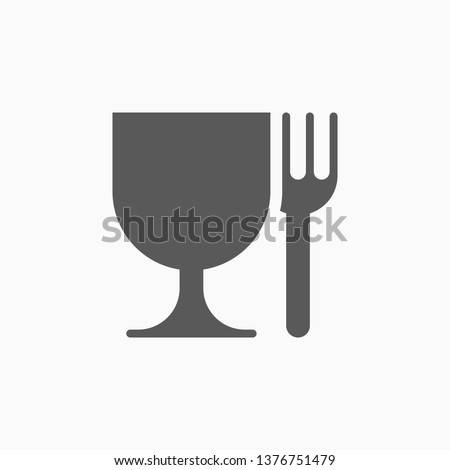 food safe icon, food grade vector Royalty-Free Stock Photo #1376751479