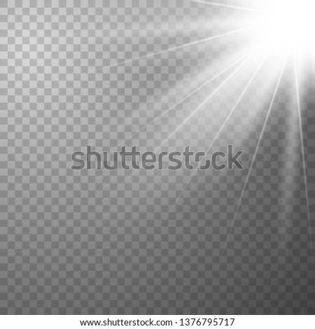 Light effect on transparent background. Graphic concept for your design. dust effect. Vector illustration eps 10. #1376795717