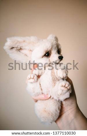 handmade teddy fennec in flowers #1377110030