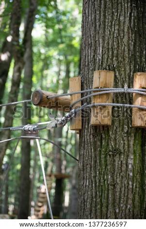 Installations in an adventure park near Bucharest, Romania #1377236597