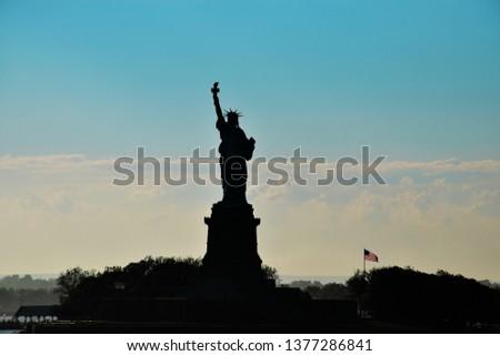 Liberty statue silhouette #1377286841