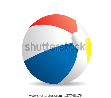 Illustration of a beach ball on a white background #137748179