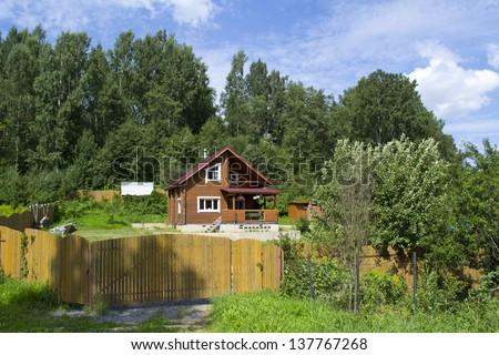 Dacha in village near Saint-Petersburg, Russia #137767268