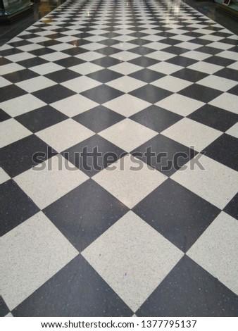 Checkered pattern Hallway #1377795137
