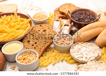 selection of gluten free food Royalty-Free Stock Photo #1377886181