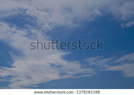 blue sky with White cloud background                             #1378181588