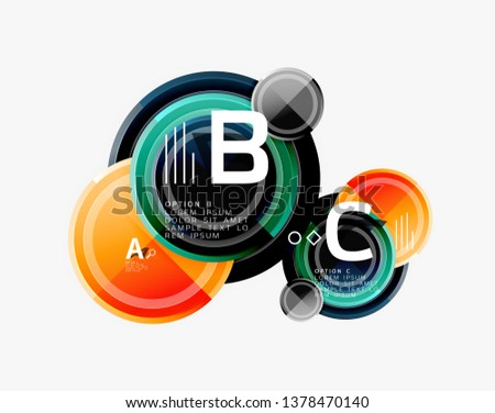 Circle geometric abstract background template for web banner, business presentation, branding, wallpaper. Vector design #1378470140
