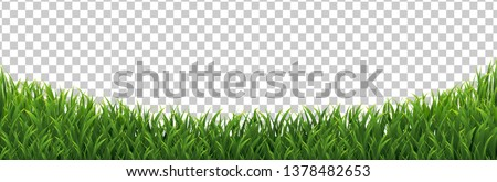 Green Grass Frame Isolated Transparent background, Vector Illustration Royalty-Free Stock Photo #1378482653