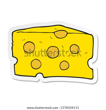 sticker of a cartoon cheese
