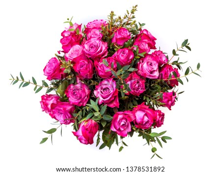 A bouquet of red roses. isolate on white background #1378531892