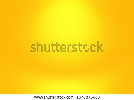 Magic abstract soft colors of shining yellow gradient studio background. #1378875683