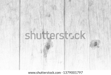 White wood wall plank texture or background #1379001797