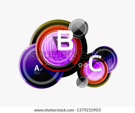 Abstract round geometric shapes, modern circles background. Vector illustration #1379210903