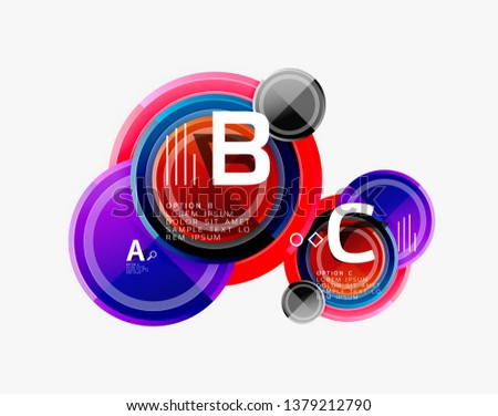 Colorful glossy circles background. Vector #1379212790