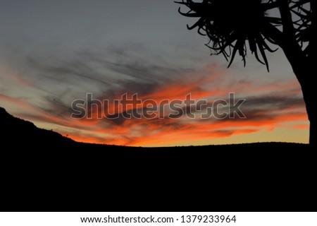 Beautiful sunset in Springbok South Africa. Great sunset color. #1379233964