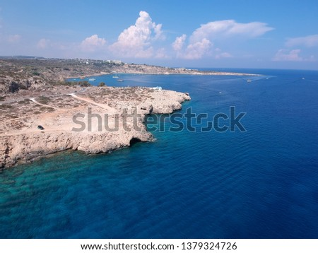 Beautiful aerial view of the Blue Lagoon, Cyprus #1379324726