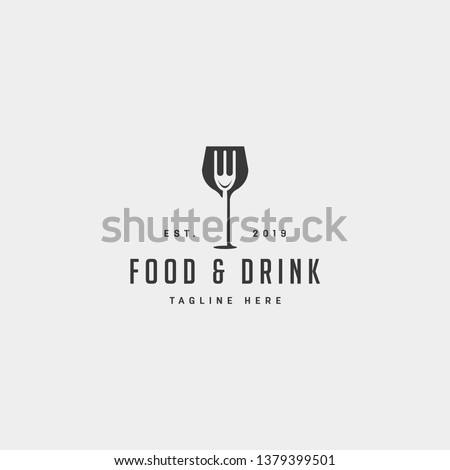 food and drink simple flat logo design vector illustration icon element Royalty-Free Stock Photo #1379399501