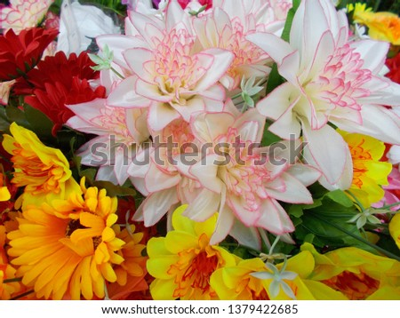 Artificial fabric flowers #1379422685