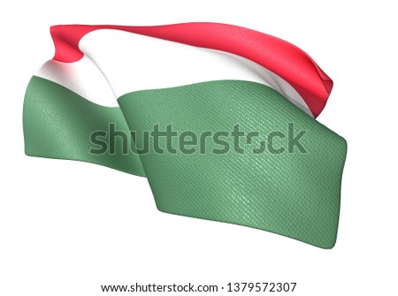 3D illustration of Hungary flag 2:3 #1379572307