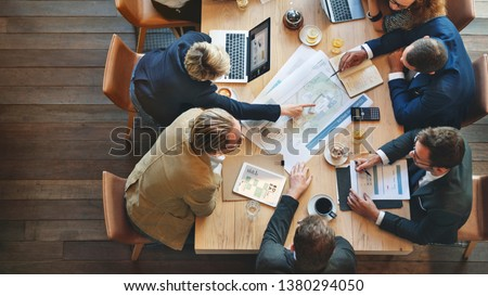 Architect team having a discussion Royalty-Free Stock Photo #1380294050