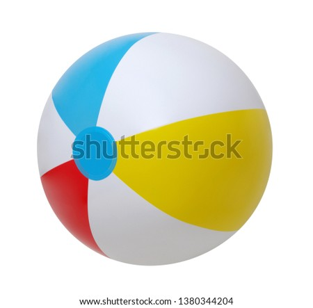 Beach ball isolated on a white background #1380344204