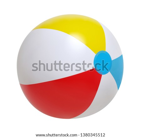 Beach ball isolated on a white background #1380345512