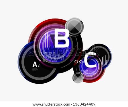 Circular pattern, abstract circles composition. Vector design #1380424409