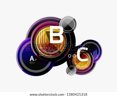 Colorful glossy circles background. Vector #1380425318
