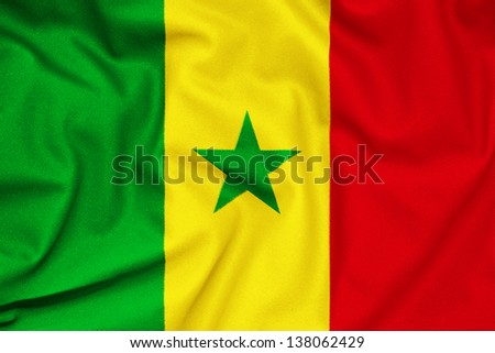 Fabric texture of the Senegal flag #138062429
