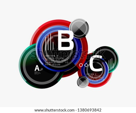 Circle geometric abstract background template for web banner, business presentation, branding, wallpaper. Vector design #1380693842