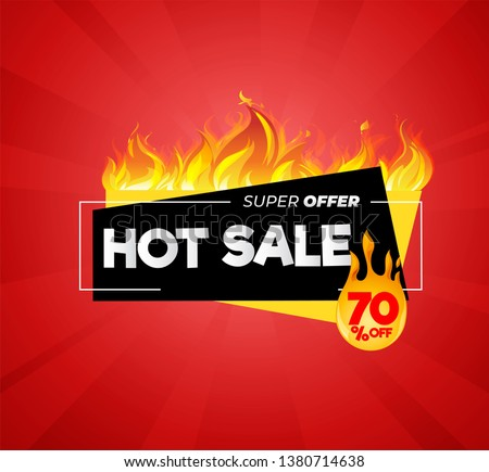 Hot sale price offer deal vector labels templates Royalty-Free Stock Photo #1380714638