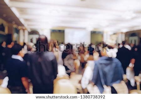 blur photo of office staffs in meeting room during the brainstorming #1380738392