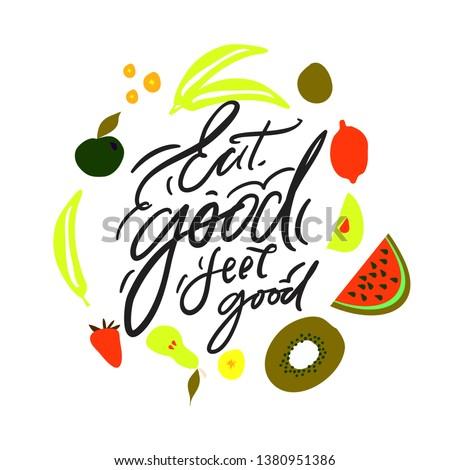 Fruit and vegetables illustration frame for your design  #1380951386